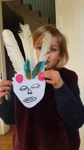 Jess' Mayan mask