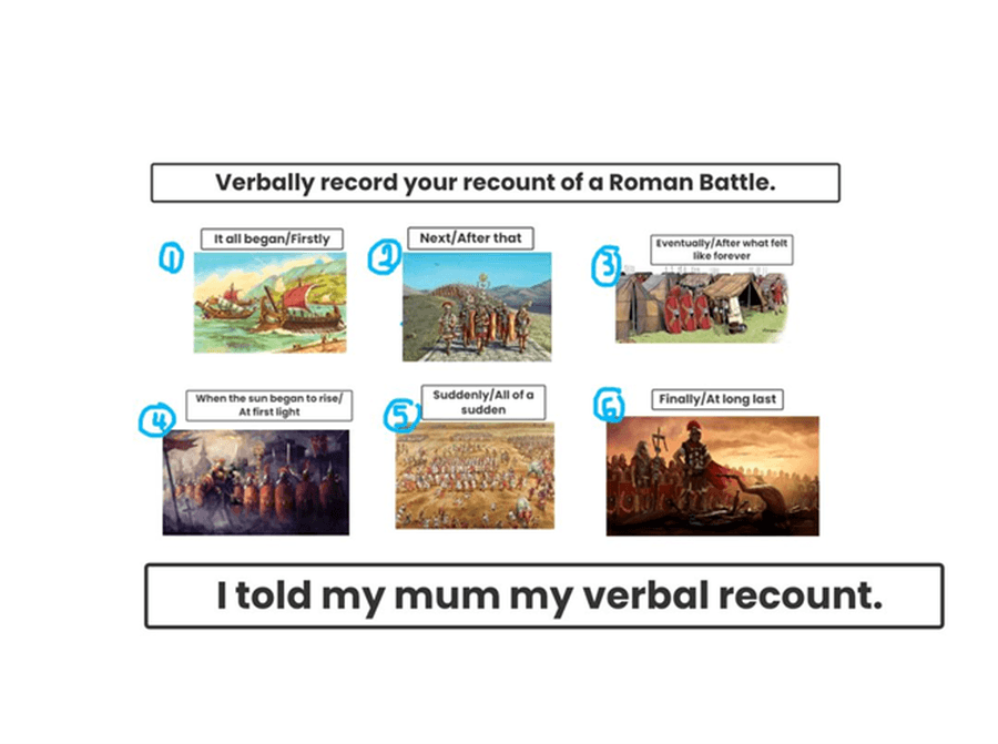 Verbal recount of the Romans