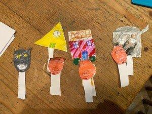 Bea's amazing puppets.