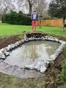 Fred's pond is nearly finished!