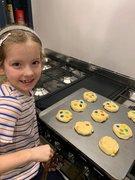 Elodie made rainbow cookies