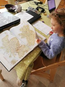 Ivy completing her Atlas scavenger hunt