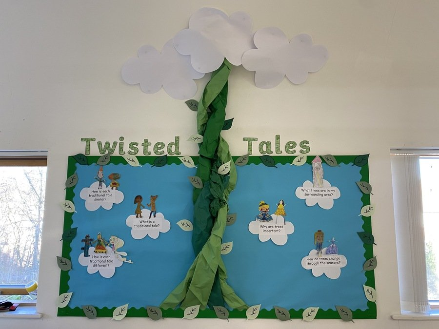 Here is our Twisted Tales topic display. Can you spot your picture? I look forward to adding more of your work throughout this term!