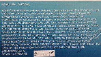 Finnuala's letter to Luna Lovegood.