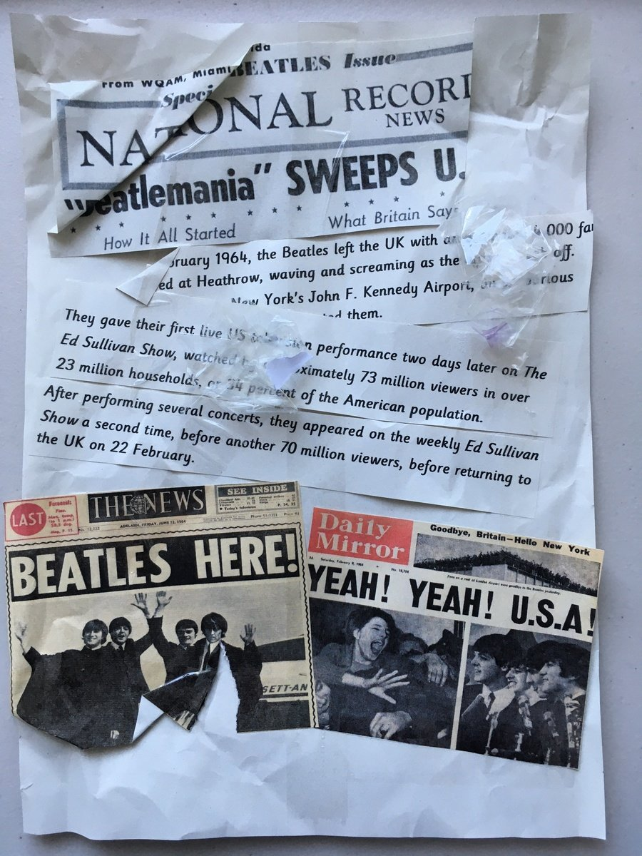 Beatles newspaper front page