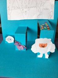 Christa's Unicorn and Yeti pop-up