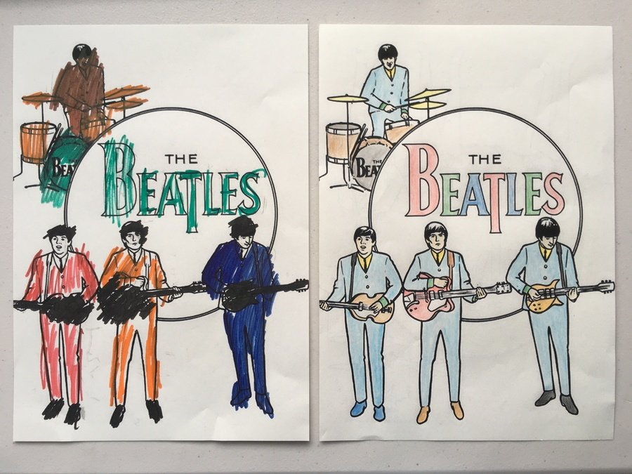 Beatles poster. WAGOLL