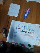 Noah's great poster on 'The Day the Crayons Quit'.