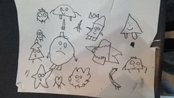Creating characters from shapes, very clever Dom