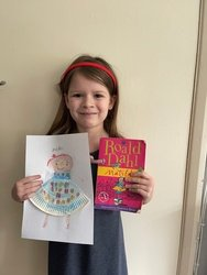 Amelia dressed as Matilda