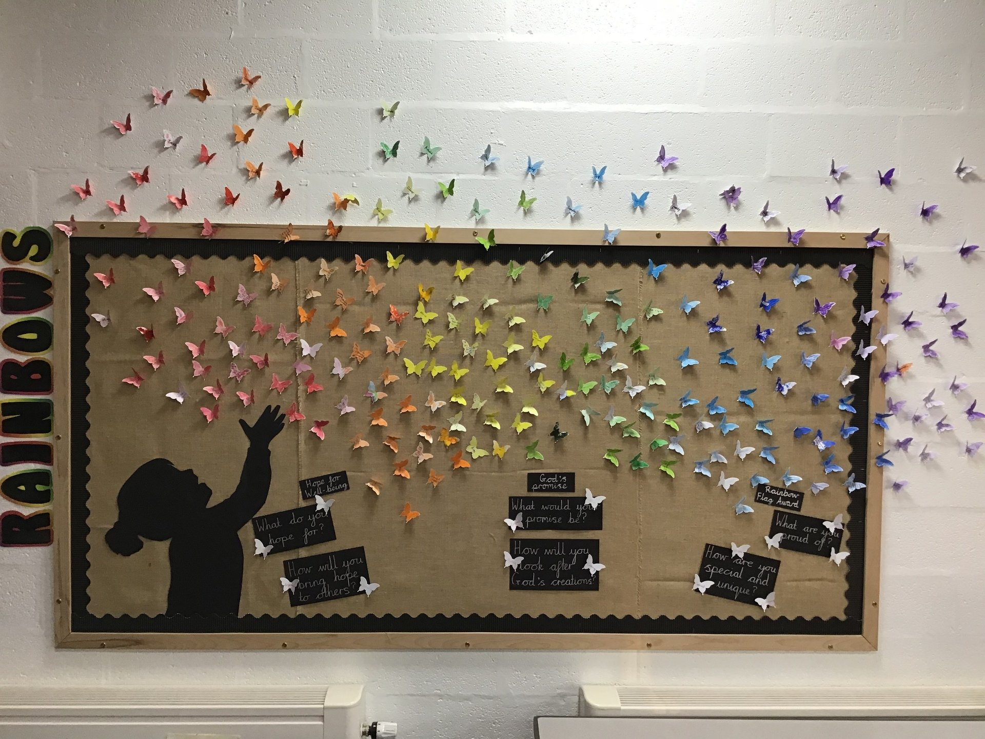 rainbow display