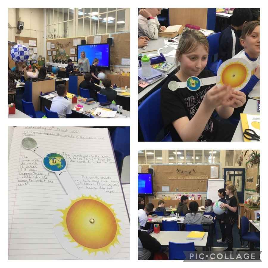 Investigating Earth, Sun and Moon in year 6