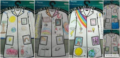 Year 5 entered the 'Design a lab coat' competition