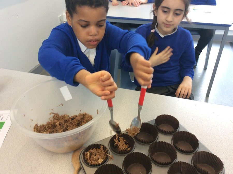 AP and PS- Year 4 and Year 3- Pathway 2- Making chocolate cakes in food tech following instructions and working together. Wonderful work!
