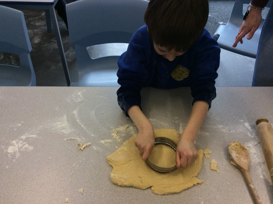 C- Pathway 1- Food tech- C could independently use the cutting tool to create the scone. The next bake off champion!!!