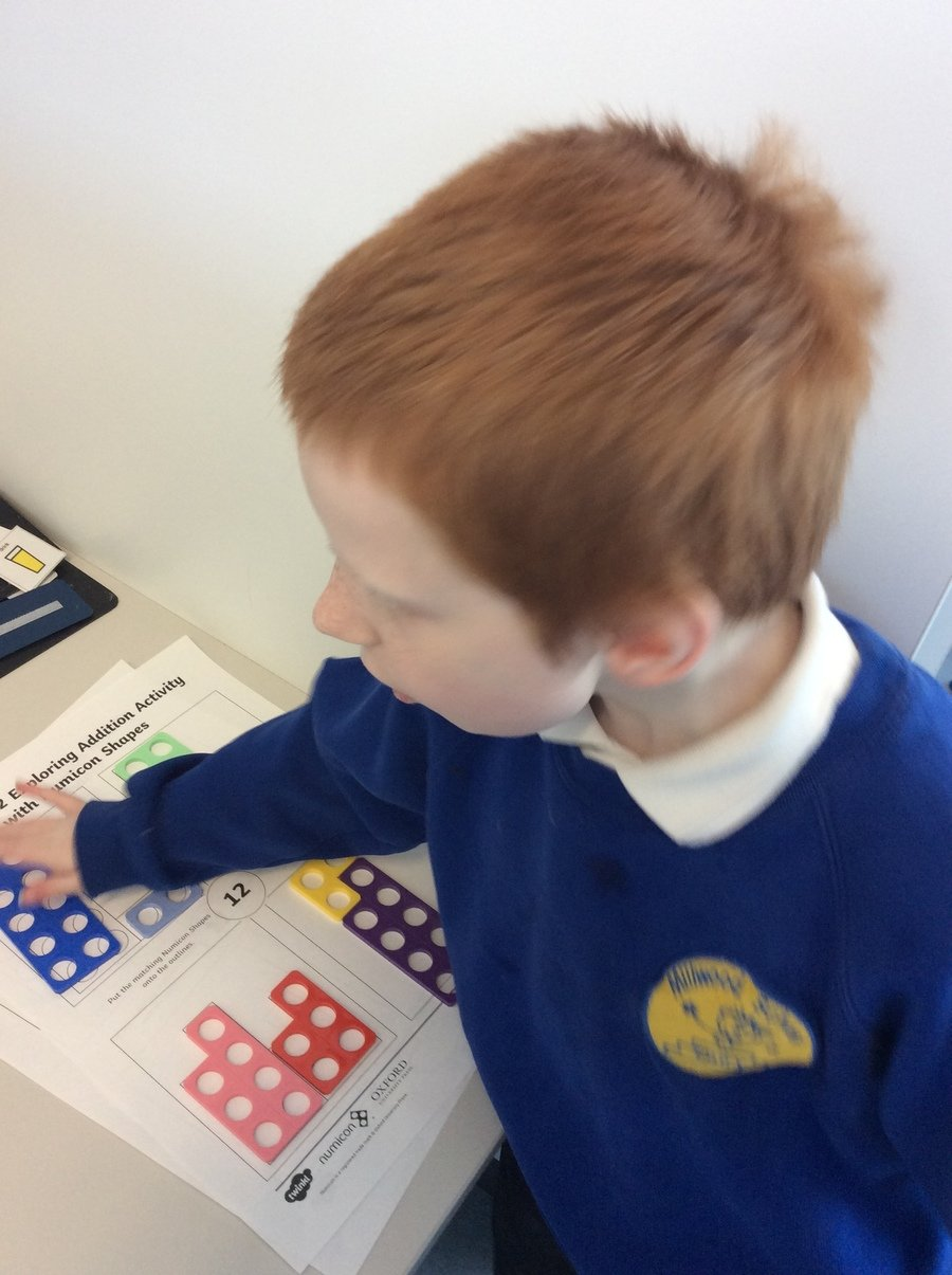 L- Year 3- Pathway 2- Number- L has been making the number 12 in a variety of ways using Numicon