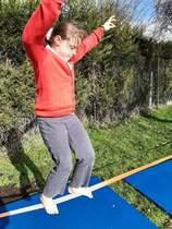 Tightrope walking like Philippe Petit