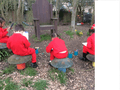 The children enjoyed looking for signs of spring