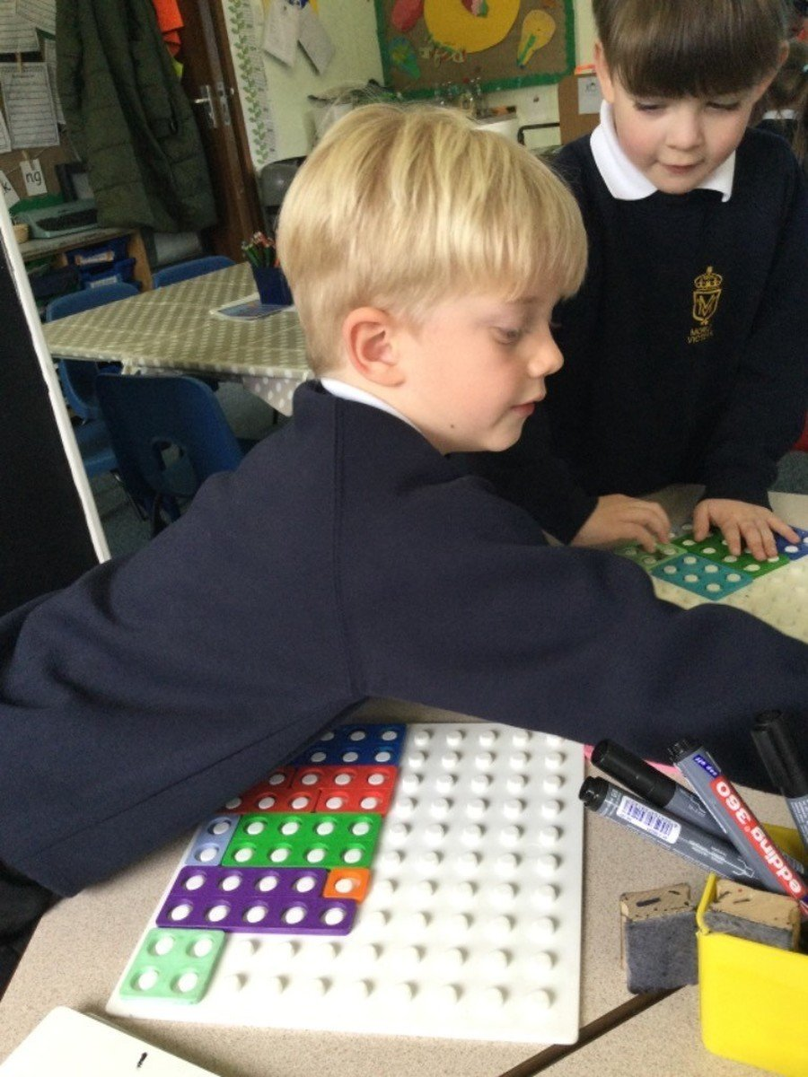 We follow the Maths Mastery approach, using objects and maipulatives to explore number problems