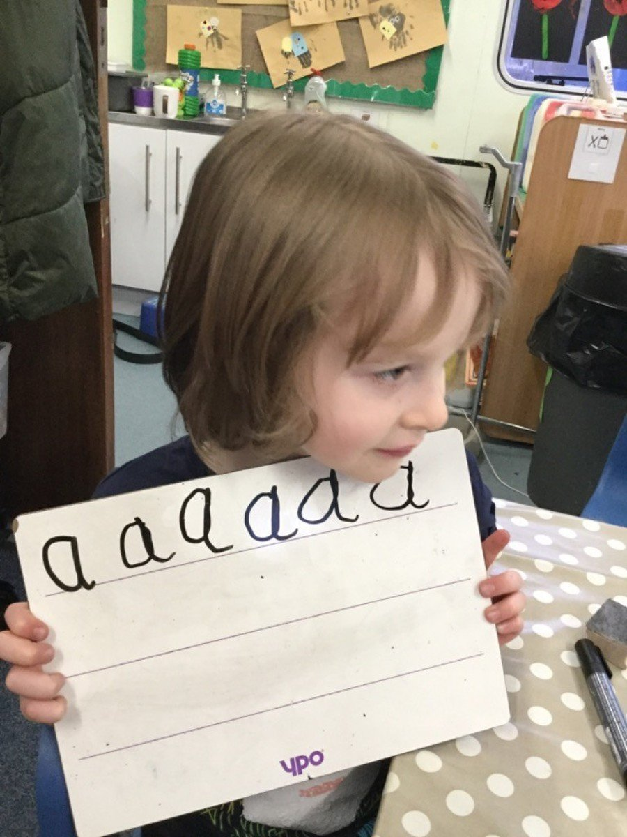 We practise correct letter formation to develop our handwriting