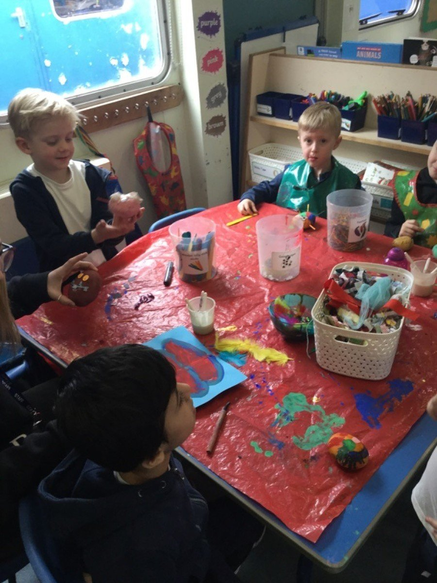 Making our favourite characters with potatoes for World Book Day!
