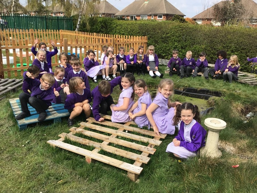 We have started to look at plants in our outdoor learning area.