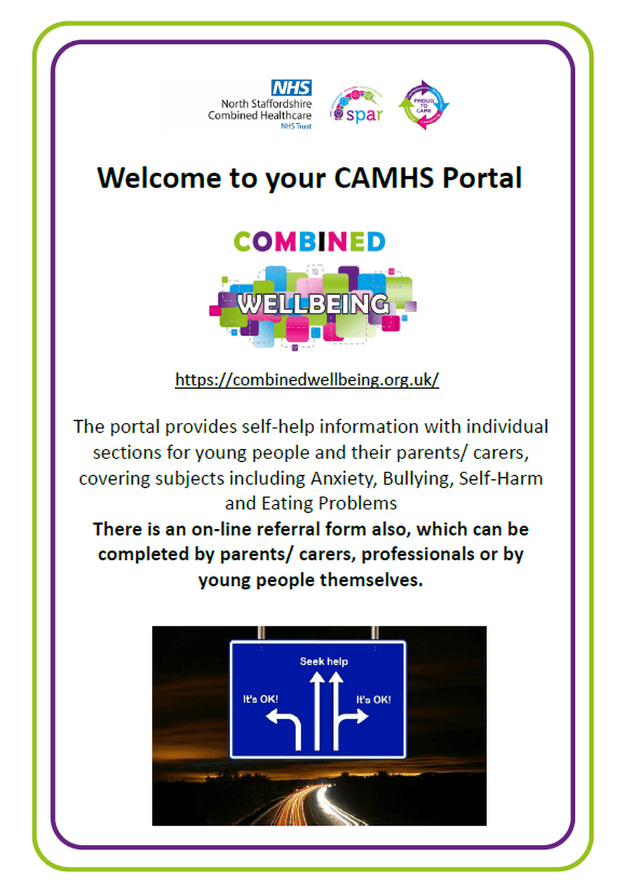 CAMHS Portal for support and advice