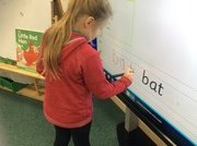 Writing words independently