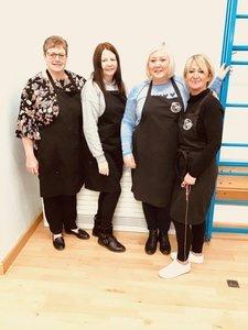 Mrs Mansell, Mrs Eltawab, Mrs Unwin and Miss Fidler