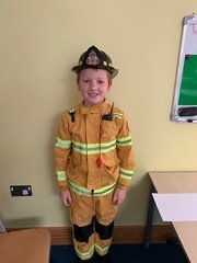 A future fireman for our 'Dare to Dream' day!