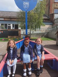 blue summer dresses and navy cardigans with or without the school logo