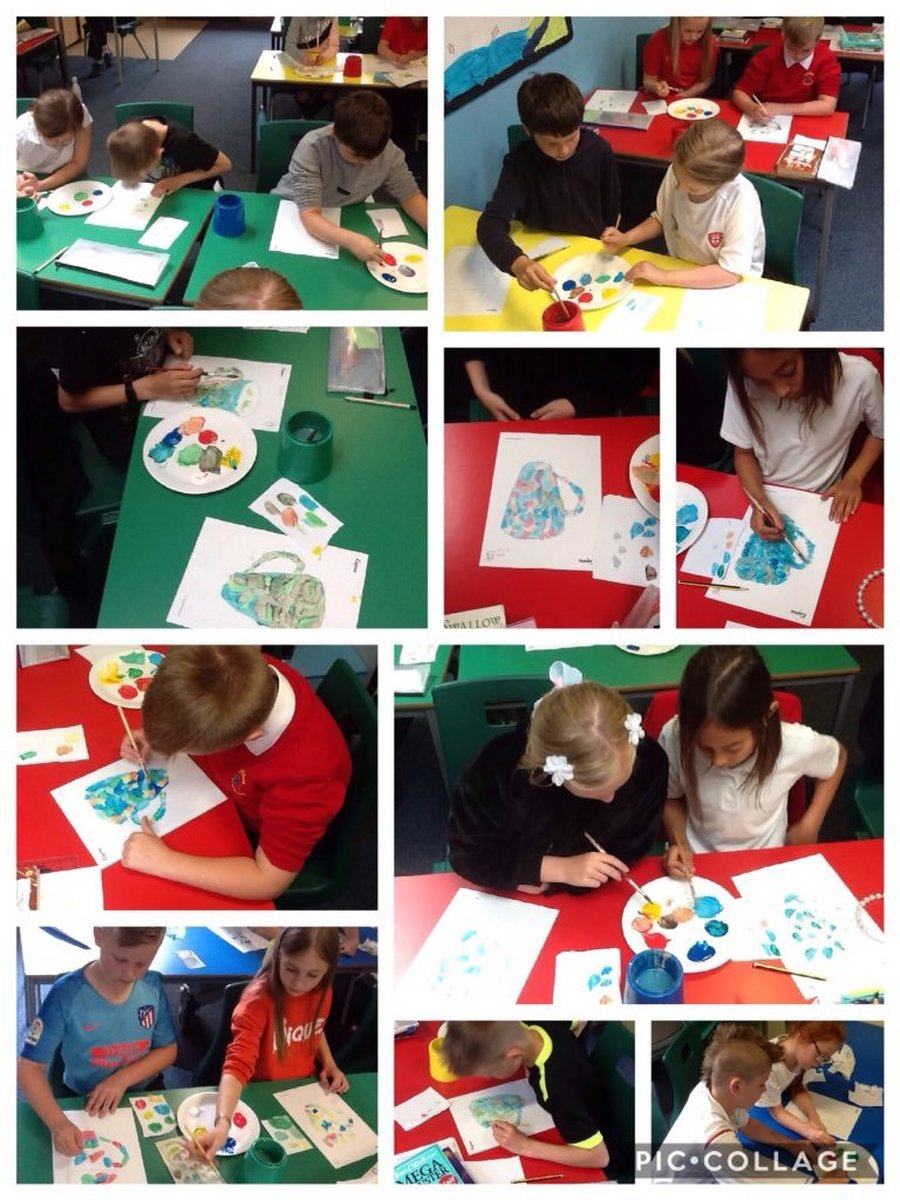 Experimenting with colour mixing and painting in the style of Paul Cezanne