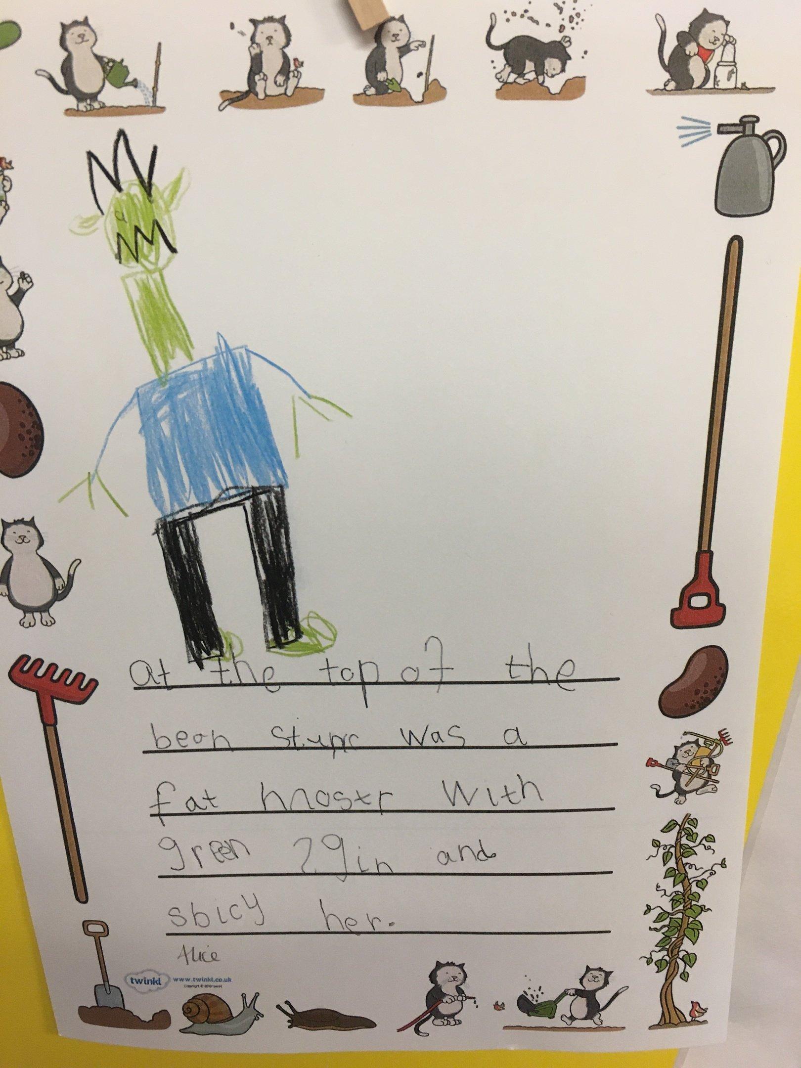 Infant writing 1