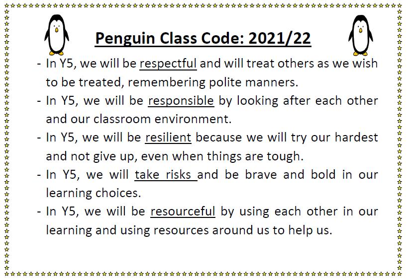 Penguin Class Code 2021-22
