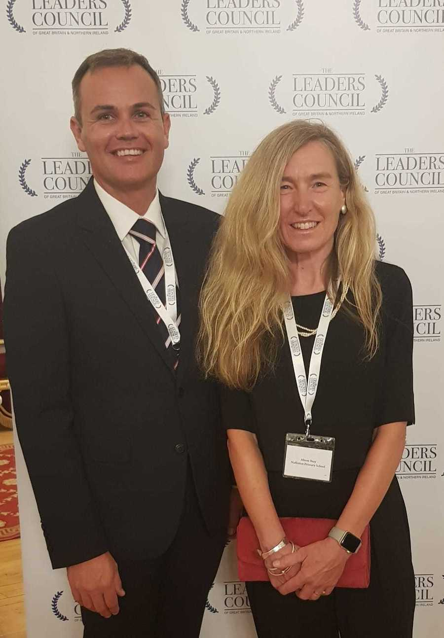 Mr Johnson and Mrs Bray at the Parliamentary Review Awards, September 2021