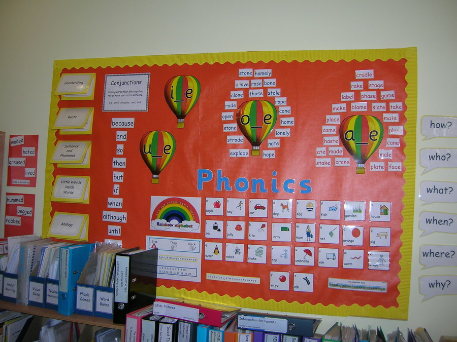 Lots of work is done on phonics in the Learning Centre.