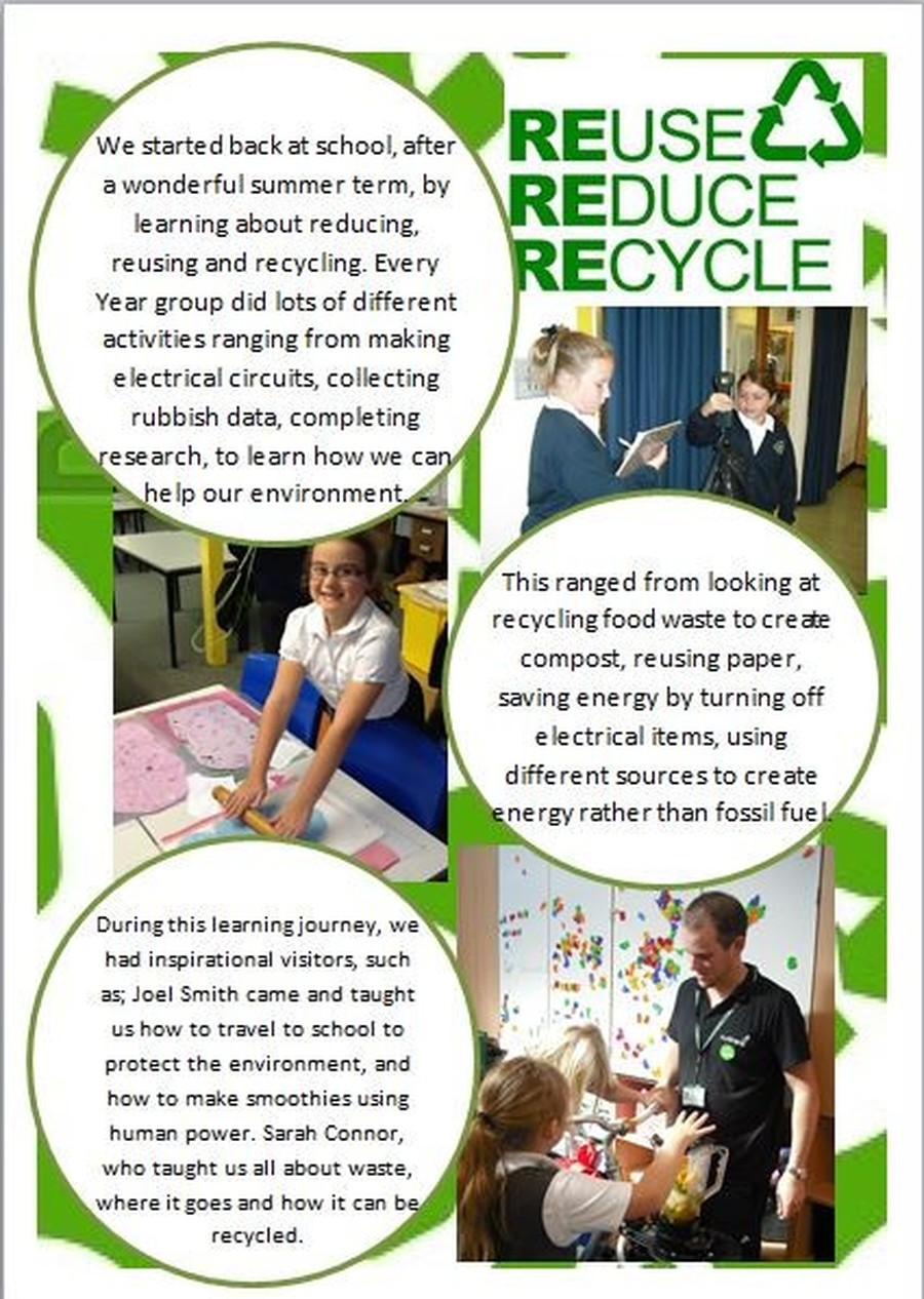 Reduce reuse recycle activities - Reduce Reuse Recycle