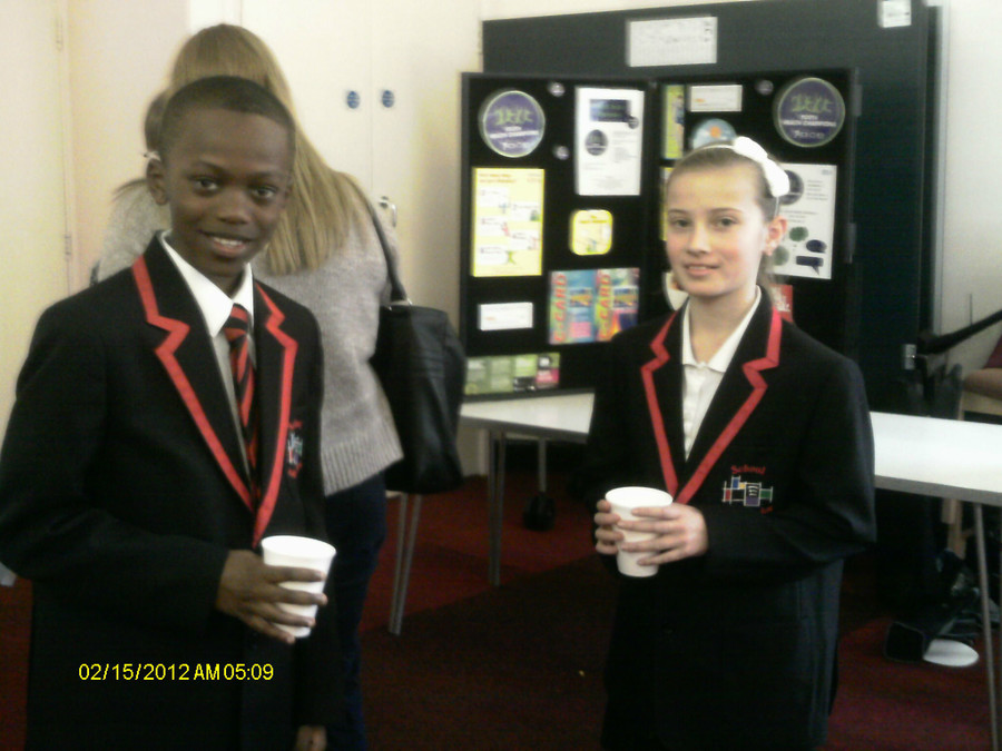 Ayo and Grace ready to collect their award