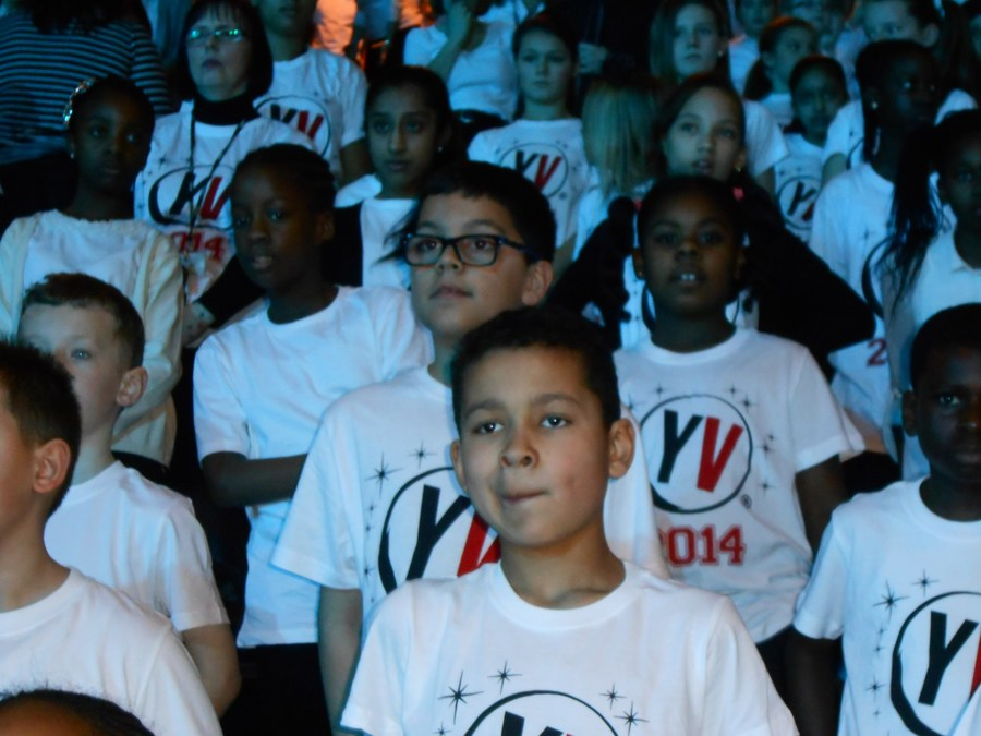 The school choir at Young Voices 2014