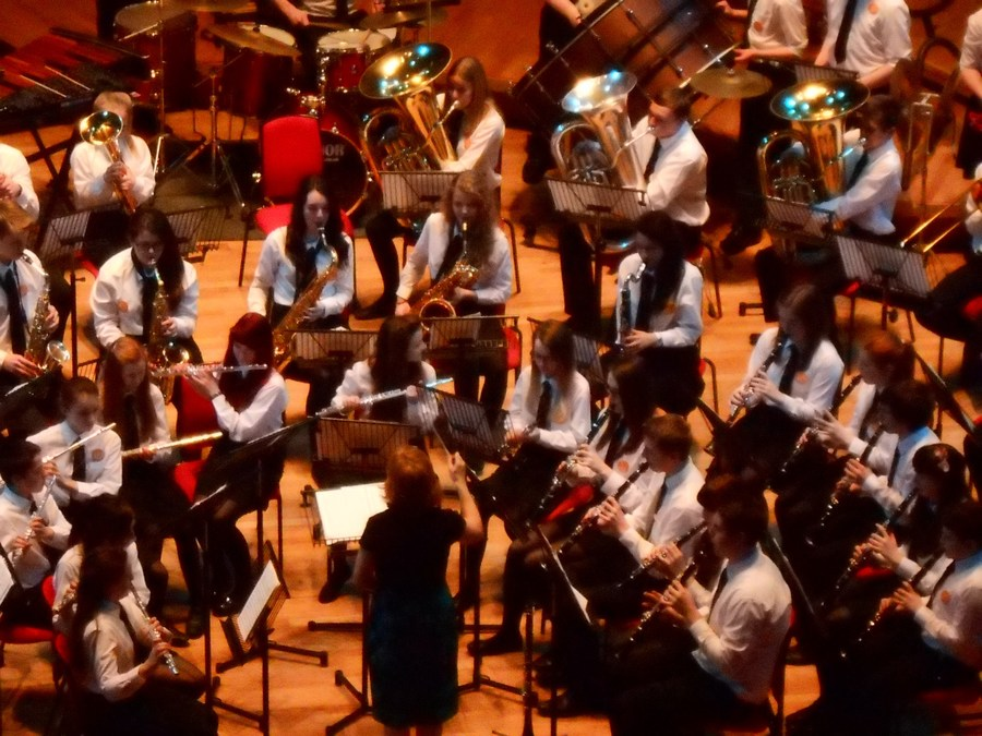 The band and choir went to the Primary Proms at the Symphony Hall