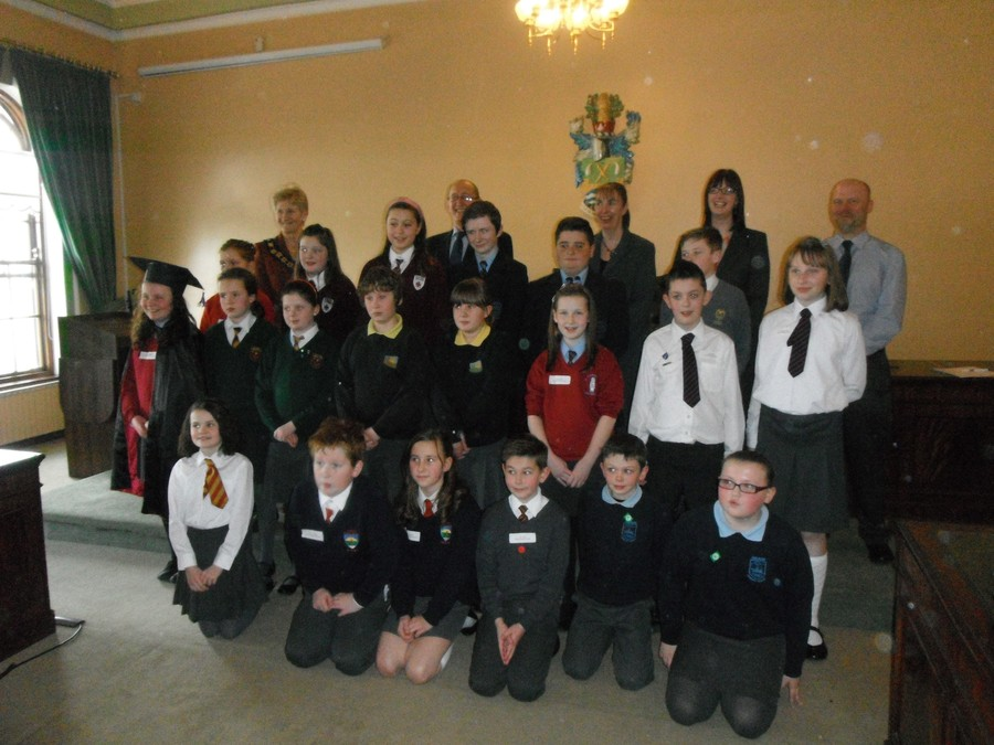The BDC youth Speak Regional finalists, including BIPS' pupils Cara and Lucy!
