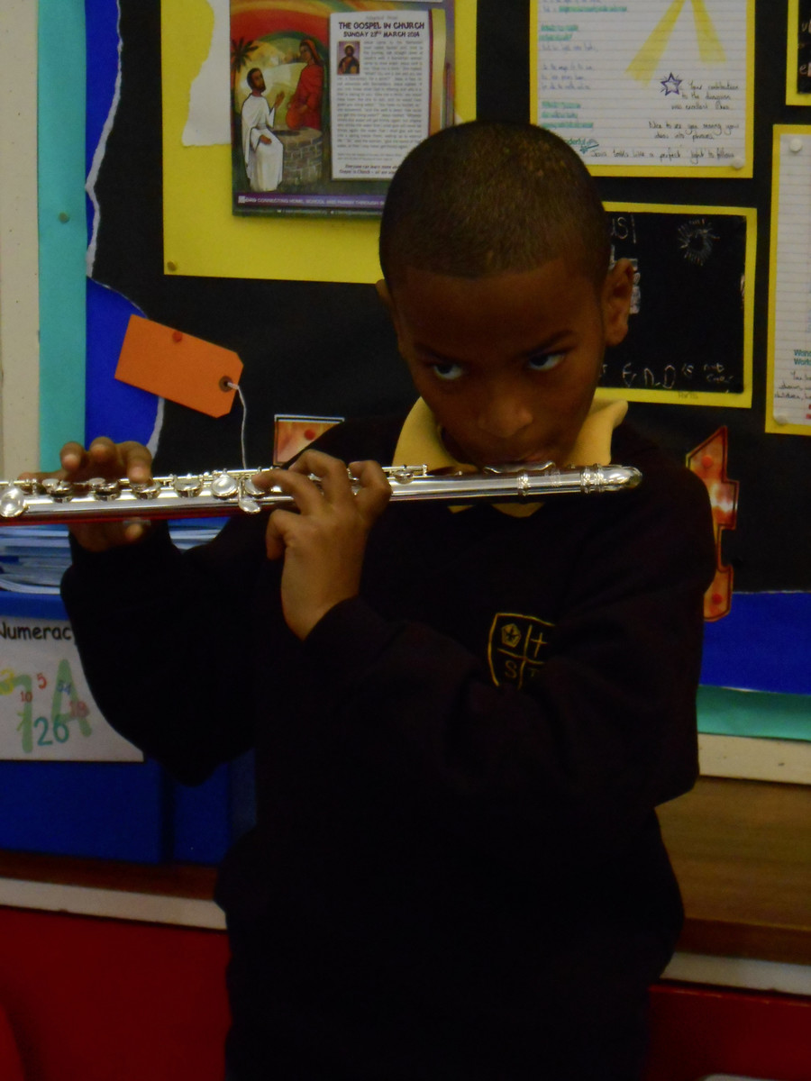 Year 4 are learning to play the flute
