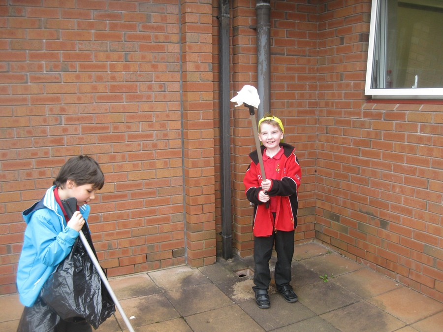 Got it, Zach!  Good man, Tiernan!  We know how to keep our school grounds tidy!  It's just a pity that others drop litter outside our school and then the wind blows it in!