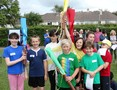 Sports Day Captains with their batons on 3rd June