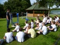Mr Greaves gives Year 6 a training session.