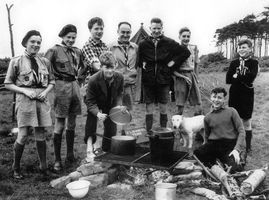 A Scouts Camping Scene
