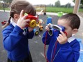 Finding out about different sorts of technology through play.