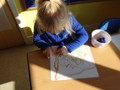 Exploring mark-making as we develop our pen/pencil hold.