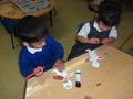Developing our fine-motor skills through collage and mark-making.