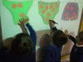 Learning how to use the interactive whiteboard. Extending our counting skills.